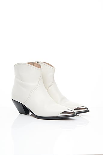 Bottines/Boots blanc ALBERTO GOZZI pour femme