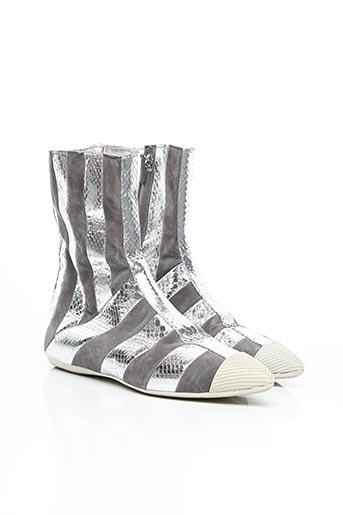 Bottines/Boots gris PRADA pour femme