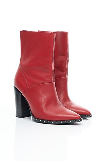 Bottines/Boots rouge BRONX pour femme