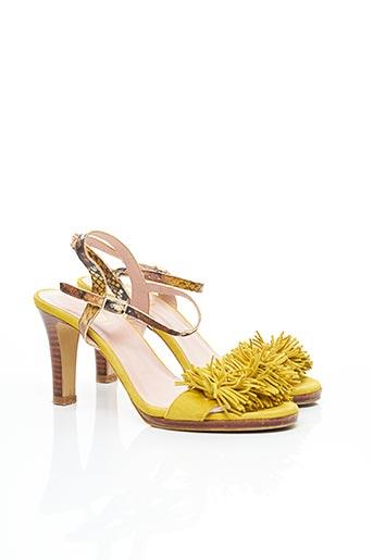 Sandales/Nu pieds jaune LODI pour femme
