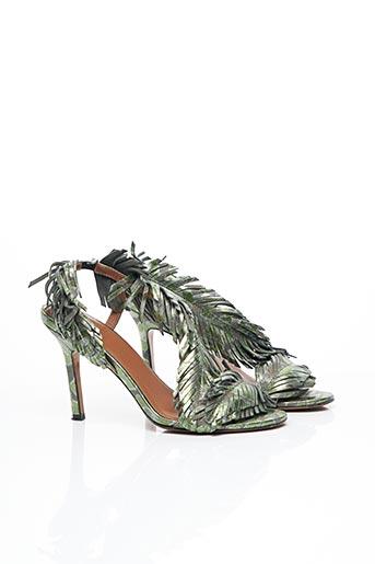Sandales/Nu pieds vert BALDOWSKI pour femme