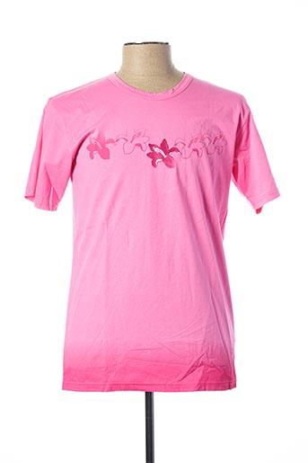 T-shirt manches courtes rose JULIPET pour homme