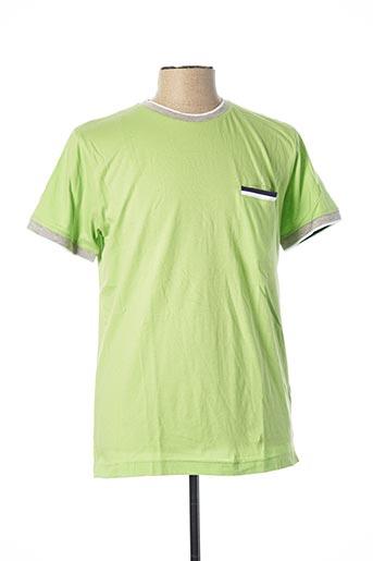 T-shirt manches courtes vert JULIPET pour homme