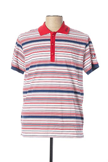 Polo manches courtes rouge JULIPET pour homme