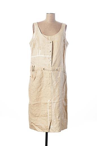 Robe mi-longue beige FLORENCE KORN pour femme