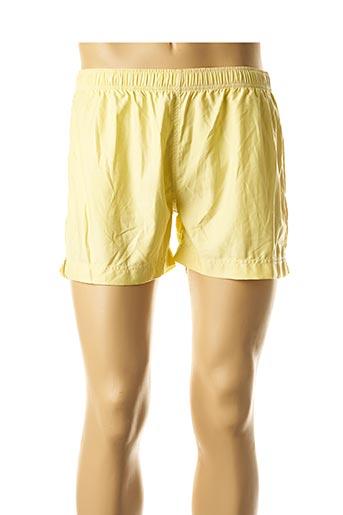 Short de bain jaune JULIPET pour homme