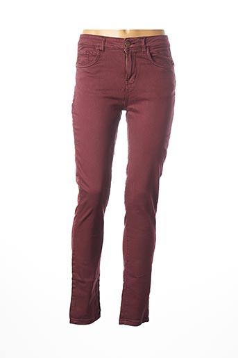 Pantalon casual violet DEELUXE pour femme