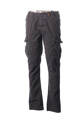 Pantalon casual gris SUPERDRY pour homme