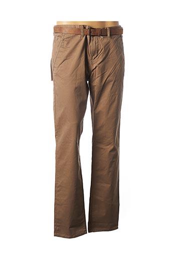 Pantalon casual marron TOM TAILOR pour homme
