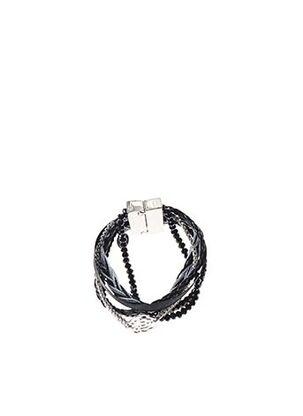 Bracelet Manchette noir MITSHA pour femme