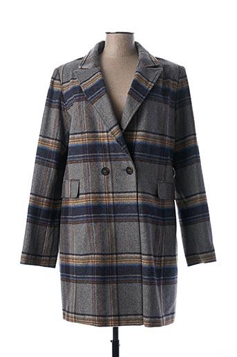 Manteau long gris D.SPORT pour femme