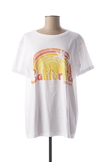 T-shirt manches courtes blanc ADILYNN pour femme