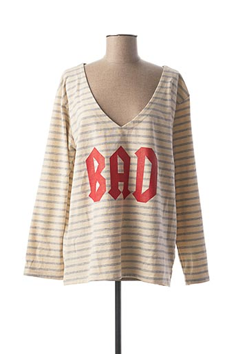 T-shirt manches longues beige BANDITAS FROM MARSEILLE pour femme