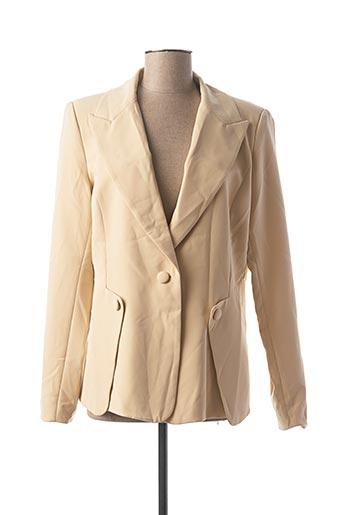 Veste chic / Blazer beige ATTENTIF pour femme