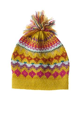 Bonnet jaune PALME pour femme