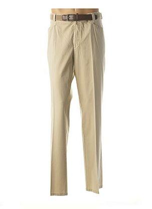 Pantalon casual beige MEYER pour homme