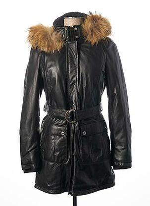 Manteau long noir ROSE GARDEN pour femme