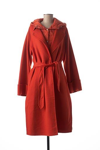 Manteau long orange BEAUMONT pour femme