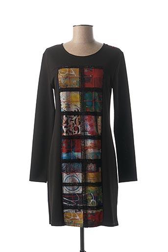 Robe courte noir AVENTURES DES TOILES pour femme