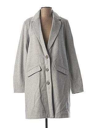 Manteau long gris VILA pour femme