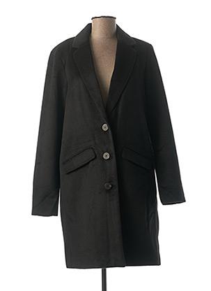 Manteau long noir VILA pour femme