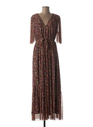 Robe longue orange GRACE & MILA pour femme