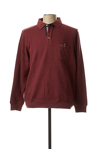 Pull col chemisier rouge FYNCH-HATTON pour homme