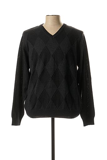 Pull col V gris MONTE CARLO pour homme