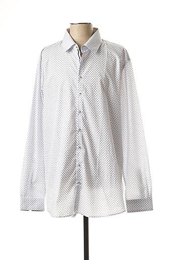Chemise manches longues blanc IZAC pour homme
