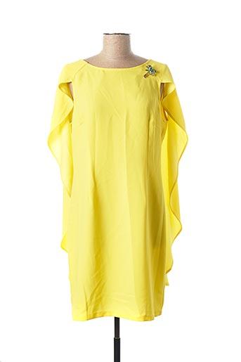 Robe mi-longue jaune KOCCA pour femme
