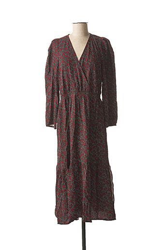 Robe longue marron ANGE pour femme