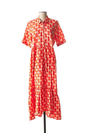 Robe longue orange ANGE pour femme