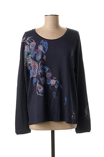 T-shirt manches longues bleu CECIL pour femme