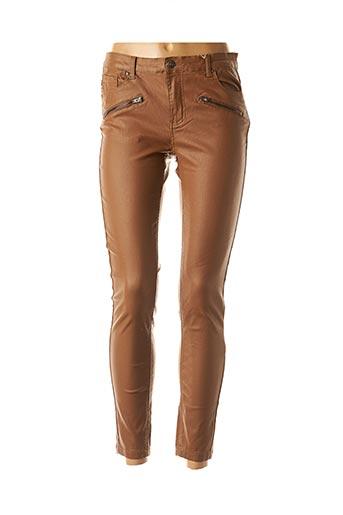 Pantalon casual marron B.YOUNG pour femme