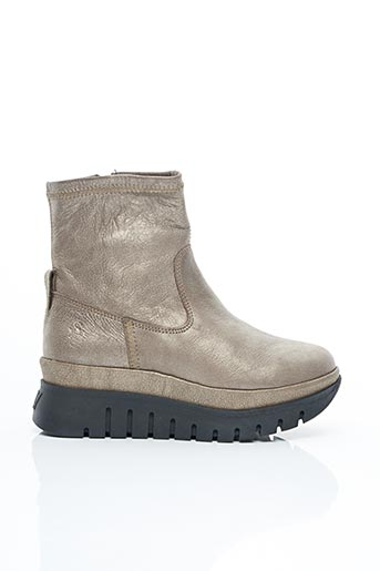 Bottines/Boots beige FLY LONDON pour femme