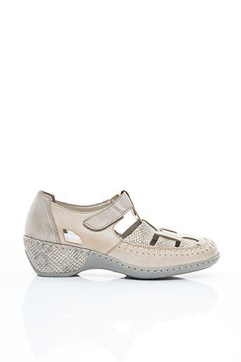 Chaussures de confort beige RIEKER pour femme