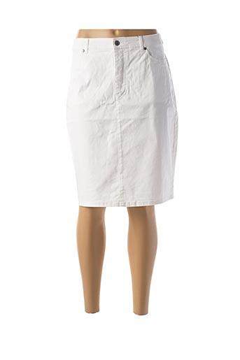 Jupe mi-longue blanc JENSEN pour femme