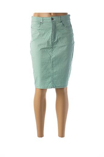 Jupe mi-longue vert JENSEN pour femme
