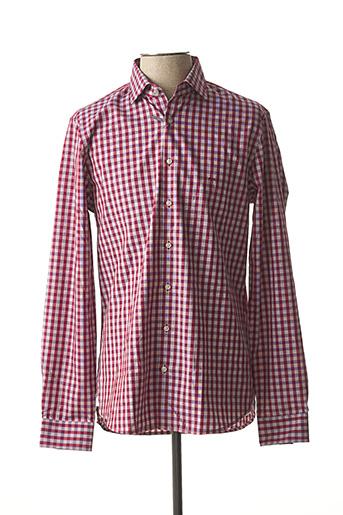 Chemise manches longues rouge MICHAEL KORS pour homme