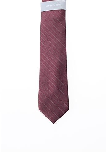 Cravate rouge MICHAEL KORS pour homme