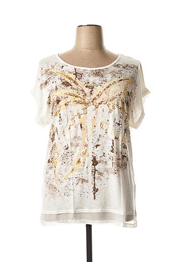T-shirt manches courtes beige VOODOO pour femme