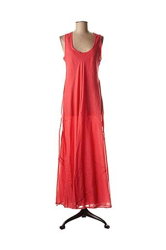 Robe longue rouge PALME pour femme