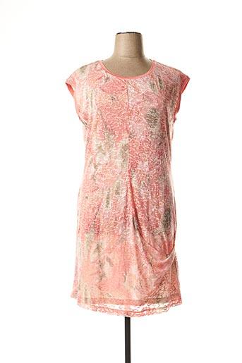 Robe mi-longue rose SANDWICH pour femme