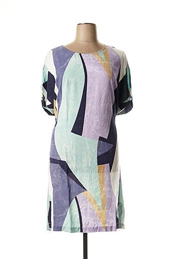 Robe mi-longue vert SANDWICH pour femme