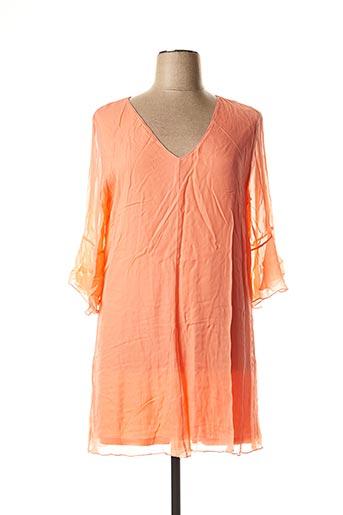 Tunique manches longues orange NINATI pour femme