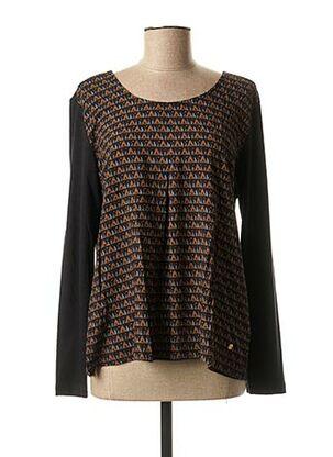 T-shirt manches longues noir THALASSA pour femme