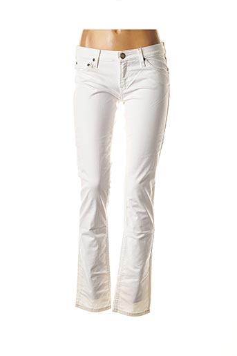 Jeans skinny blanc LEE pour femme