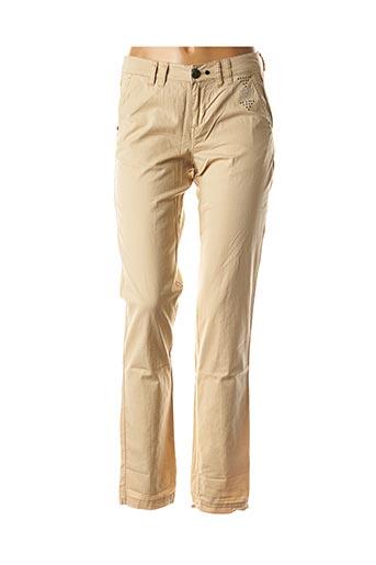 Pantalon casual beige DDP pour femme