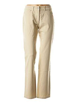 Pantalon casual beige APANAGE pour femme