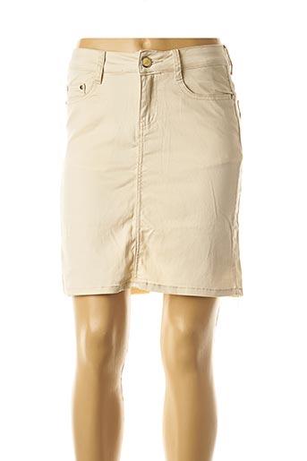 Jupe courte beige EQUATION pour femme